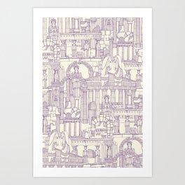 Ancient Greece purple pearl Art Print