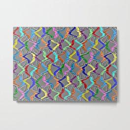 Rainbow Net Metal Print