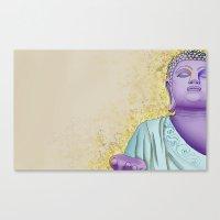 buddhism Canvas Prints featuring Buddhism by Handsomecracker