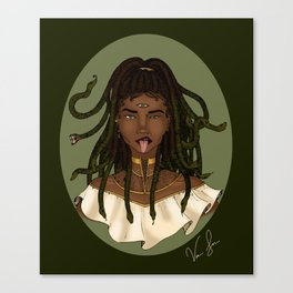 Three-Eyed Medusa Canvas Print