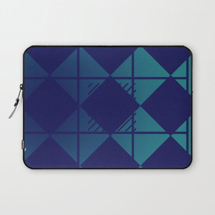 Blue,Diamond Shapes,Square Laptop Sleeve