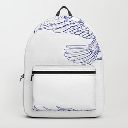 Raven Carrying Quill Drawing Backpack