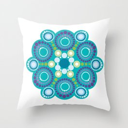 Mandala Lotus flower Throw Pillow