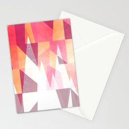 Abstract Geometric Mountains Design Stationery Cards
