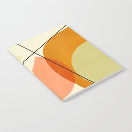 mid century geometric shapes painted abstract III Notebook