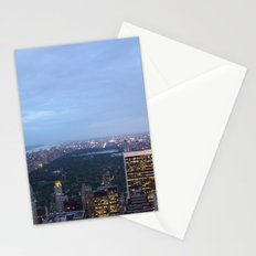 Central Park View from Rockefeller Centre Stationery Cards