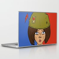 army Laptop & iPad Skins featuring Army Girl by ConnorEden