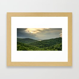 Eagles Nest and Table Rock Lake Panorama - Missouri Ozark Mountains Framed Art Print