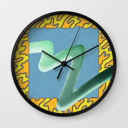 wave particle bounce Wall Clock