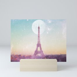 I LOVE PINK PARIS EIFFEL TOWER - Full Moon Universe Mini Art Print