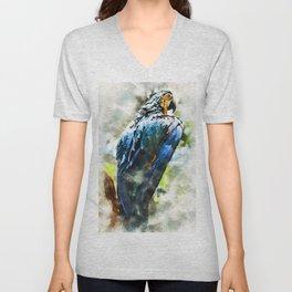Colorful Parrot Unisex V-Neck