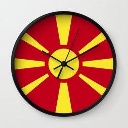 Macedonia flag emblem Wall Clock