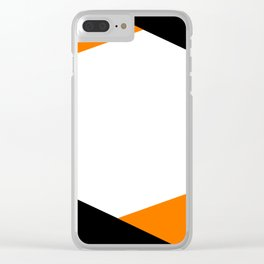 6 Sides Orange Clear iPhone Case
