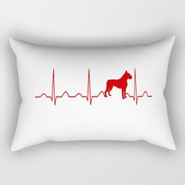 Boxer Dog Heartbeat Rectangular Pillow