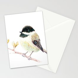 "Nature Bird ""Song Writer"" Chicadee Watercolor  Stationery Cards"