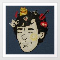 sherlock Art Prints featuring Sherlock by Derek Eads