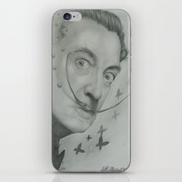 salvador dali iPhone & iPod Skins featuring Salvador Dali  by KennethShaw