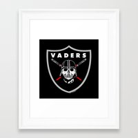 oakland Framed Art Prints featuring Oakland Vaders by Ant Atomic