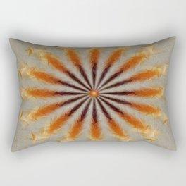 Feather Mandala Rectangular Pillow