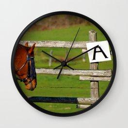 Looking at A Wall Clock