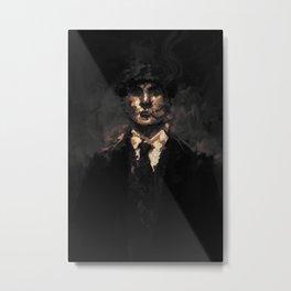 Thomas Shelby - Dark gold Metal Print