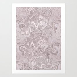 Faux Marble In Elegant Soft Pink Art Print