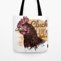 chicken Tote Bags featuring Chicken by Superfan