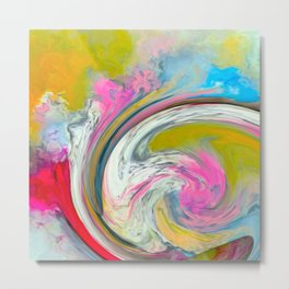 A Colorful Blend Metal Print