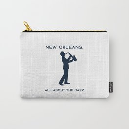 New Orleans Music Festival Jazz Saxophone Musician Design Carry-All Pouch