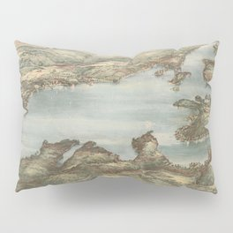 Vintage Pictorial Map of Lake Sunapee (1905) Pillow Sham