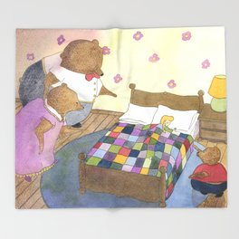 Goldilocks Caught Sleeping Throw Blanket