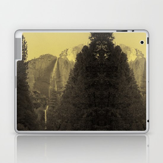 Yosemite Falls Tin Yellow Laptop & iPad Skin