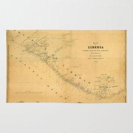 Map Of Liberia 1850 Rug