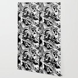 Liquid Marble B&W 028 Wallpaper