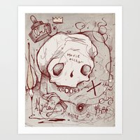 occult Art Prints featuring Series Occult by hatrobot