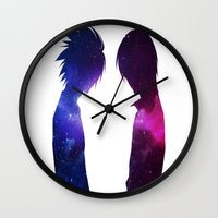 death note Wall Clocks featuring Dead note by Niky Boo