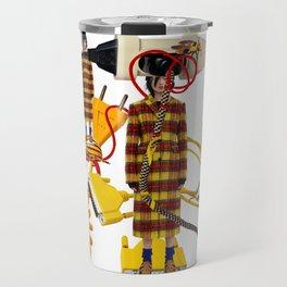 Wire Love by Lenka Laskoradova Travel Mug