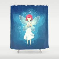 tooth Shower Curtains featuring Tooth Fairy by Freeminds