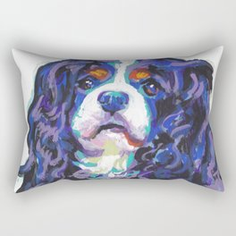 Tri-color Cavalier King Charles Spaniel Dog bright colorful Pop Art by LEA Rectangular Pillow