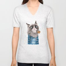 Sailor Cat III Unisex V-Neck