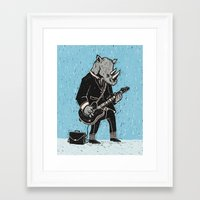 rhino Framed Art Prints featuring Rhino by Ronan Lynam
