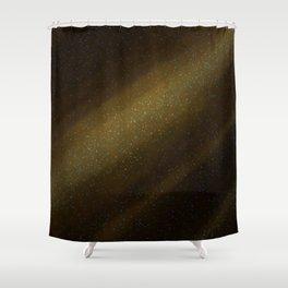 Yellow Star Field Galactic Shower Curtain