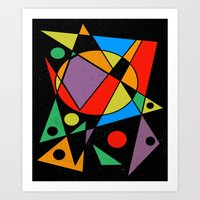 kandinsky Art Prints featuring Abstract #130 by Ron Trickett