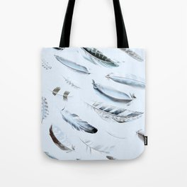 Cosmic Feathers Blue Dust Tote Bag