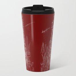 Shoetree in Deep Red Travel Mug