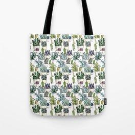 Tiny Cactus Succulents Cacti Tote Bag
