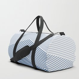 Shades of Blue Abstract geometric pattern Duffle Bag