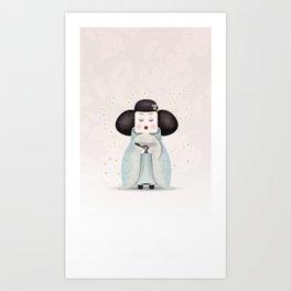 Silent beauty Art Print