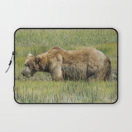 Brown Bear Grazing Laptop Sleeve
