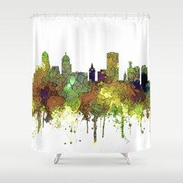 Buffalo, New York Skyline - SG Safari Buff Shower Curtain